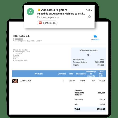 facturas automáticas wordpress